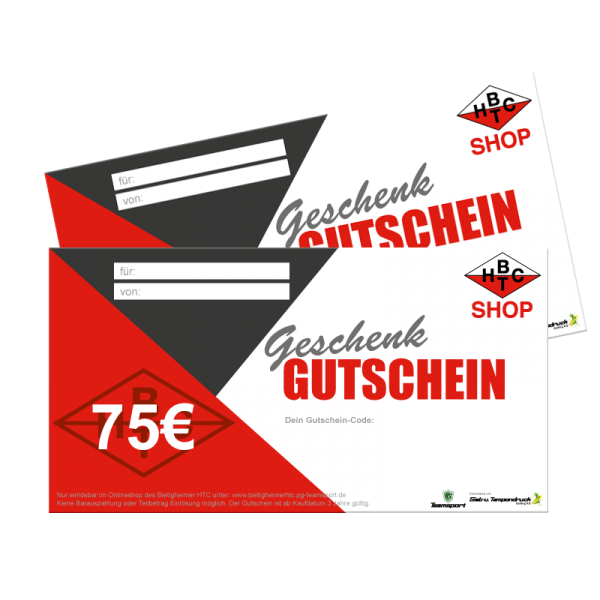 75,00€ Geschenk Gutschein